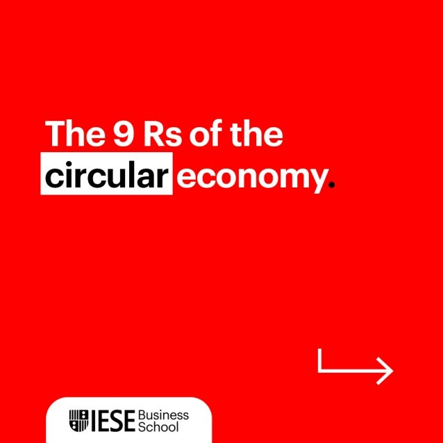 The 9Rs of the circular economy