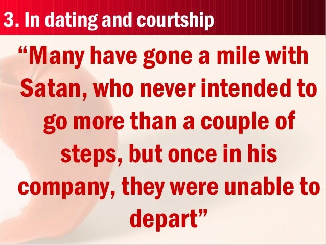 Dating and courtship difference