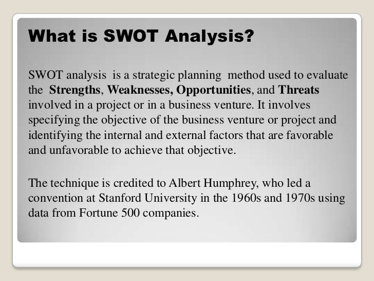 The AZ Of Swot Analysis
