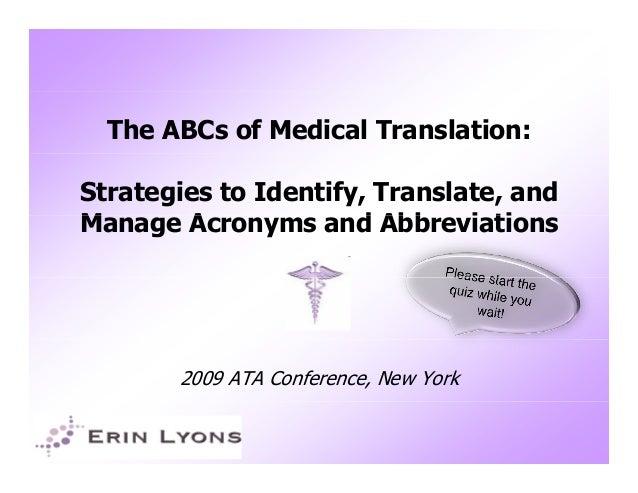 ata abbreviation in medical terms