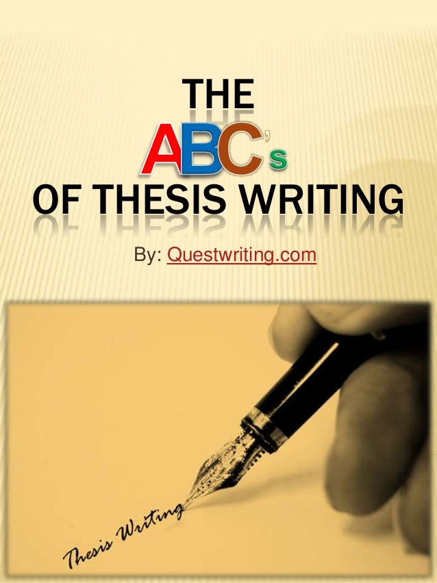Help On Writing A Good Thesis Statement