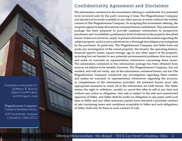 Commercial Real Estate Listing Brochure