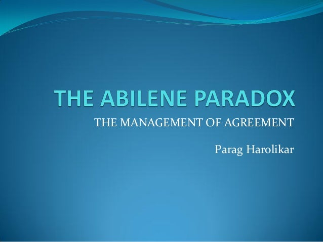 the abilene paradox the management