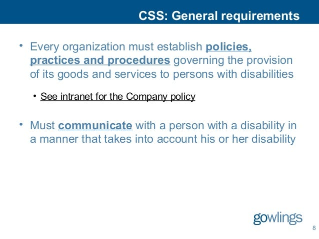 The Accessibility for Ontarians With Disabilities Act, 2005
