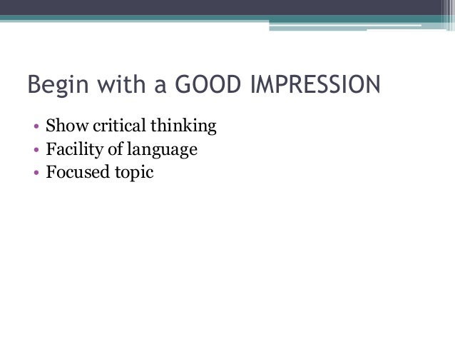 the act essay first impression 4