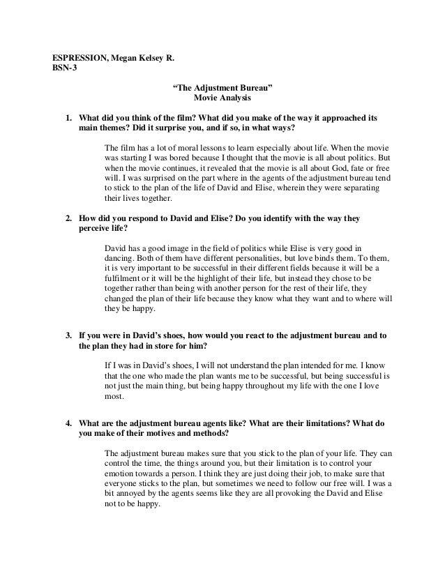 The adjustment bureau movie analysis