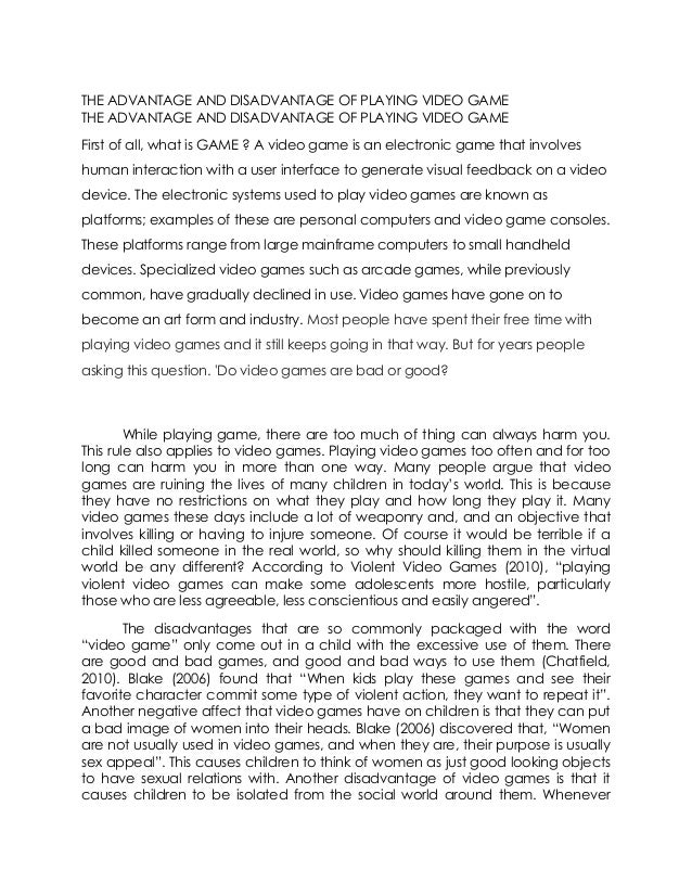 video games don t cause violence essay