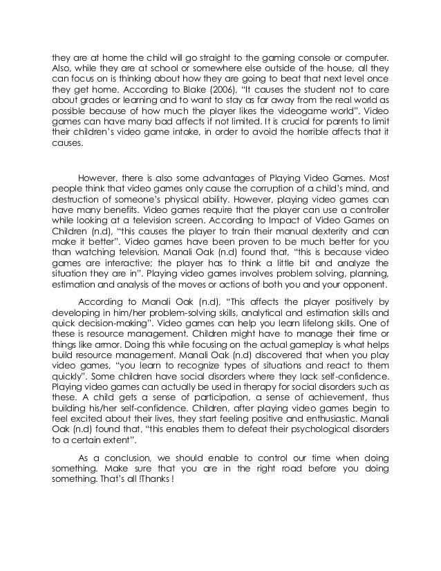 kompyuter games thesis