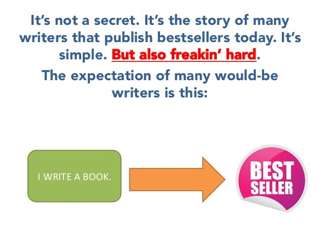 It's not a secret. It's the story of many writers that publish bestsellers today. It's simple. But also freakin' hard.  Th...