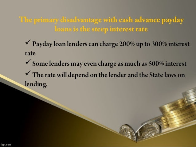 Downside Of Payday Loans