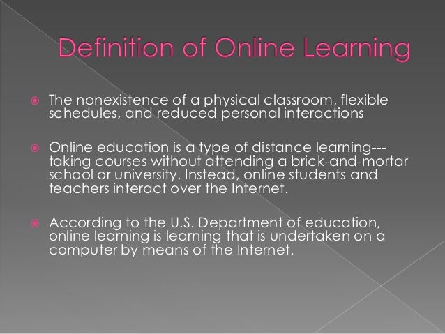 Advantages and disadvantages of an online course