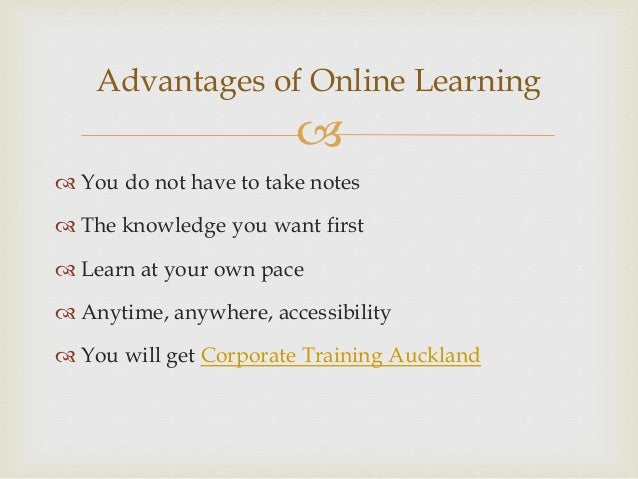 online education advantages