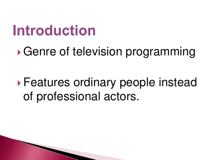 an essay on reality television