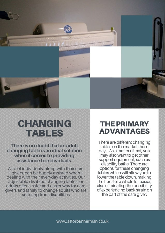The Advantages Of Changing Tables For Adults - Disabled changing table