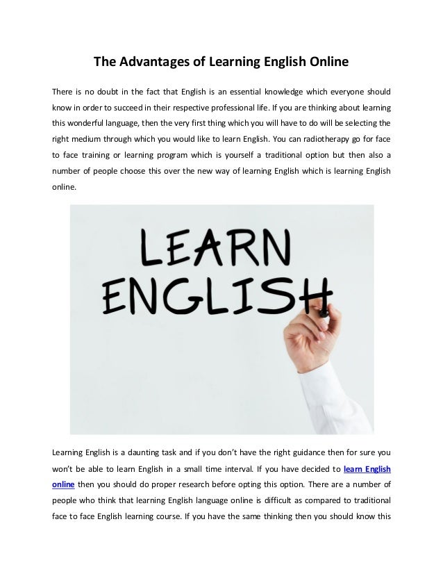 bf299a2dccc The Advantages of Learning English Online There is no doubt in the fact  that English is ...