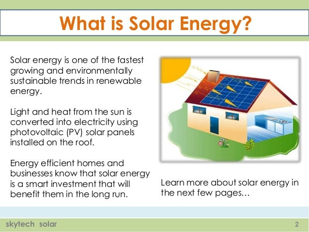 what is solar energy solar energy is one of the