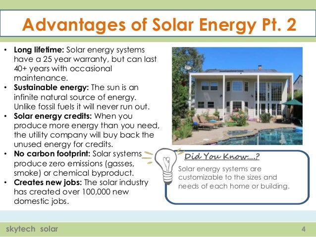 advantages of solar energy pt 2 long lifetime solar energy