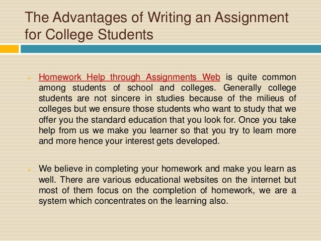 critical thinking assignments for college students