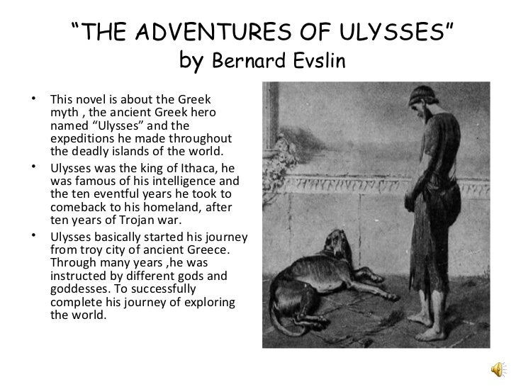 character analysis odysseus adventures ulysses bernard evs Next friday i am going to be at the 36th annual christmas luncheon with the guys i went to university with we have stayed in touch for all that time and we have all attended this event year after year.