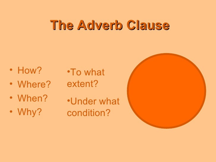 adverb clause definition