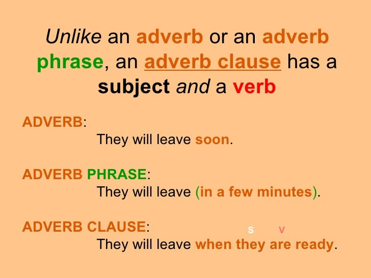 difference between adverbial and adjectival phrases