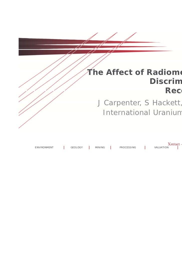 The Aff t f R di                        Th Affect of Radiometric T                                             t i Truckk ...
