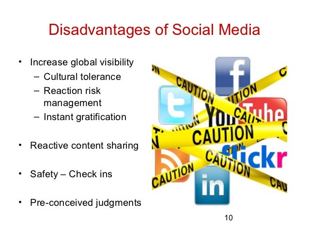 The disadvantages of increased social media