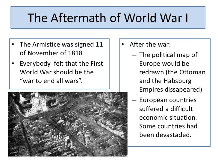 The aftermath of first world war