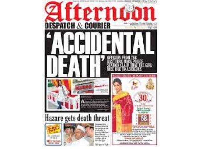 Help@TheMediaAnt.com Get Discounted Rates and Rates for other The Afternoon Despatch Courier Newspaper Advertising at The ...