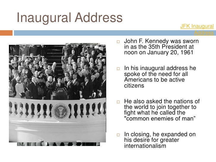 a critique of the speech by john f kennedy in his 1960 inaugural address Remembering kennedy mu's john f the voluminous media produced about kennedy after his watch then-sen john f kennedy's acceptance speech at the 1960.