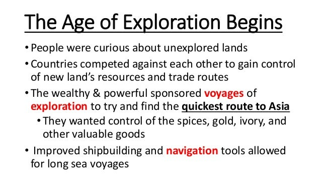 The Age of Exploration – Age of Exploration Worksheets