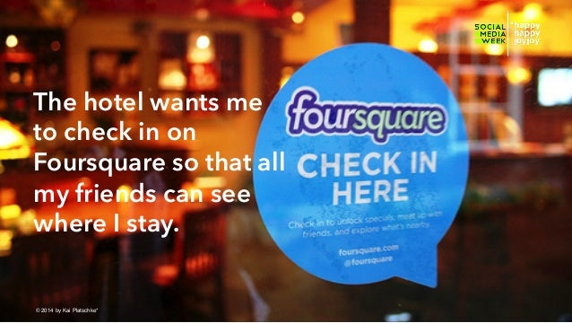 The hotel wants me to check in on Foursquare so that all my friends can see where I stay. © hahajotjot* ©2014 by Kai Plats...
