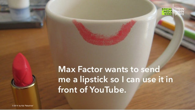 Max Factor wants to send me a lipstick so I can use it in front of YouTube. © hahajotjot* ©2014 by Kai Platschke* ! !