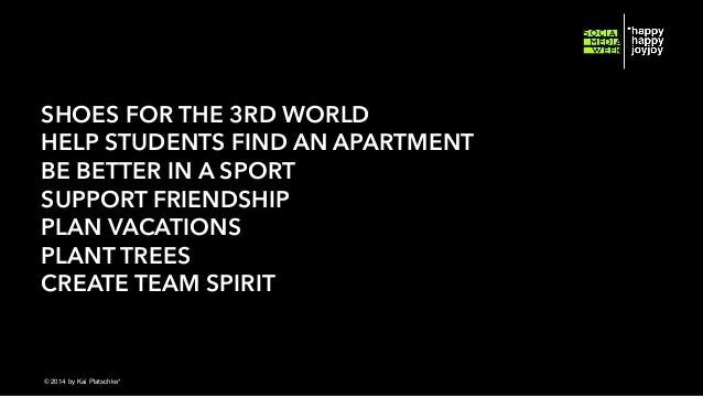 SHOES FOR THE 3RD WORLD HELP STUDENTS FIND AN APARTMENT BE BETTER IN A SPORT SUPPORT FRIENDSHIP PLAN VACATIONS PLANT TREES...