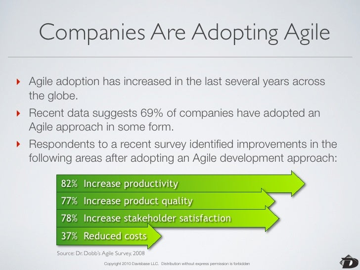 So, What Is Agile All About?  •   A philosophy about software development.  •   A collection of processes and practices th...