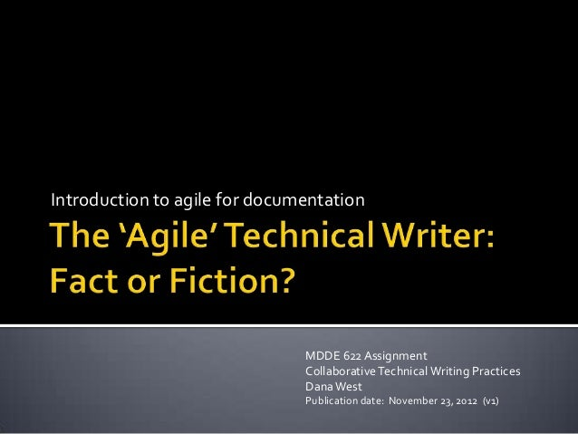Introduction to agile for documentation                               MDDE 622 Assignment                               Co...