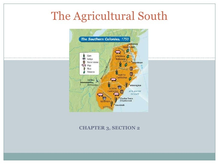 CHAPTER 3, SECTION 2 The Agricultural South