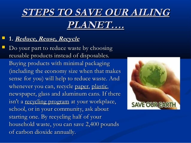 the ailing planet This is a power point presentation for class 11 studentsthis is purely for seminar or presentation basedthis is to help students for ideas ,how to.