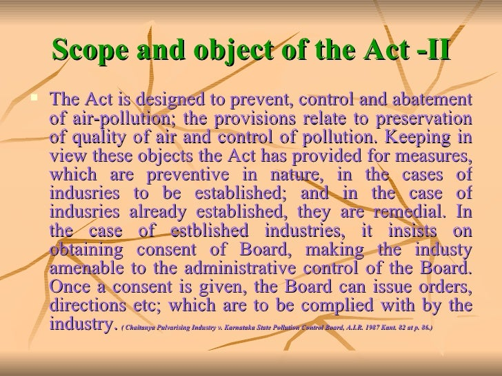prevention and control of pollution The water (prevention and control of pollution) act, 1974 (act no6 of 1974) [23rd march, 1974] an act to provide for prevention and control of water pollution and the maintaining or restoring of.