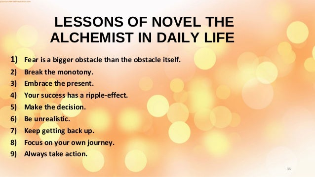 the alchemist book review  35 36 lessons of novel the alchemist