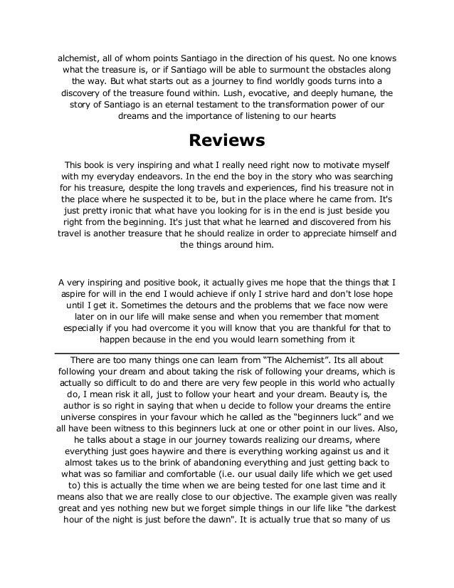 The Alchemist Novel Pdf