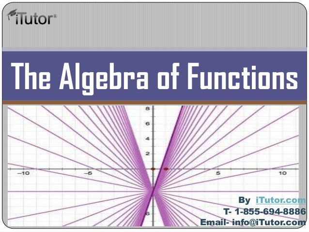 The Algebra of Functions T- 1-855-694-8886 Email- info@iTutor.com By iTutor.com