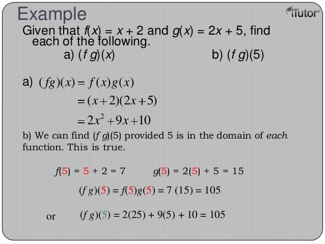 how to find the domain of fg
