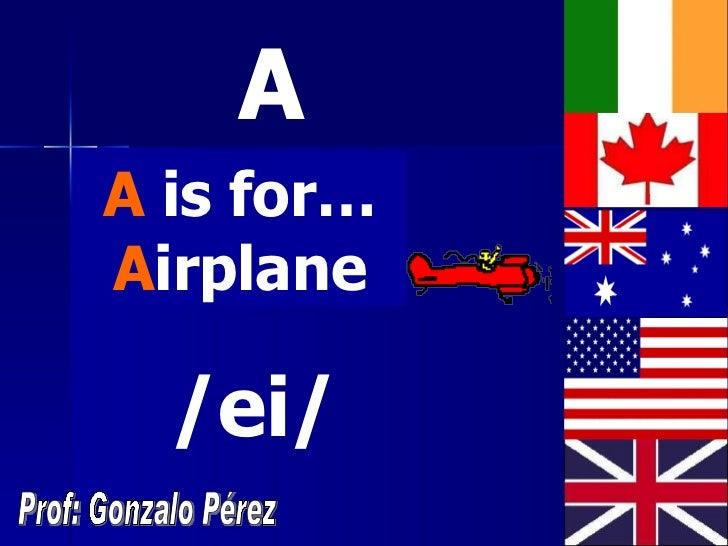 The alphabet Slide 2