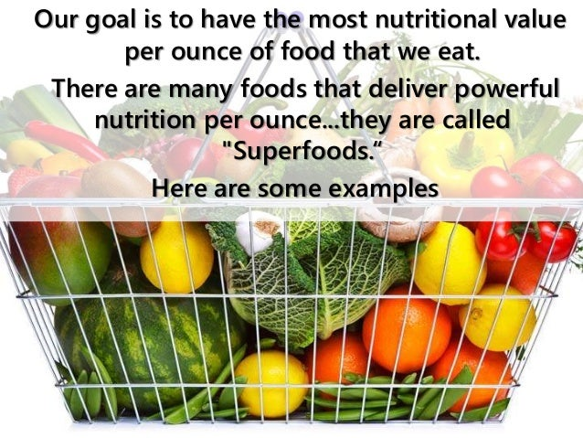 the most nutritionally dense foods
