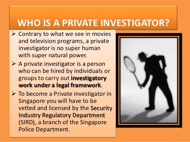 how to work as a private investigator