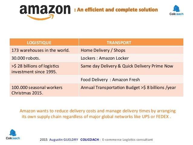 amazon logistics Logistics operations manager this position requires a candidate with the proven ability to drive process improvements, alongside the stamina to keep pace with amazon's rapid growth patterns.