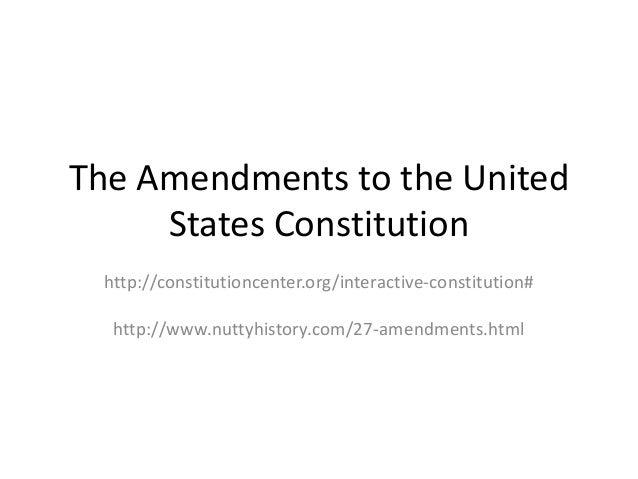 the list of amendments in the united states constitution Once drafted, the bill of rights was quickly ratified by the states it only took six months for nine states to say yes - two short of the total needed in december 1791, virginia was the 11th state to ratify the first 10 amendments, making them part of the constitution two other amendments failed .