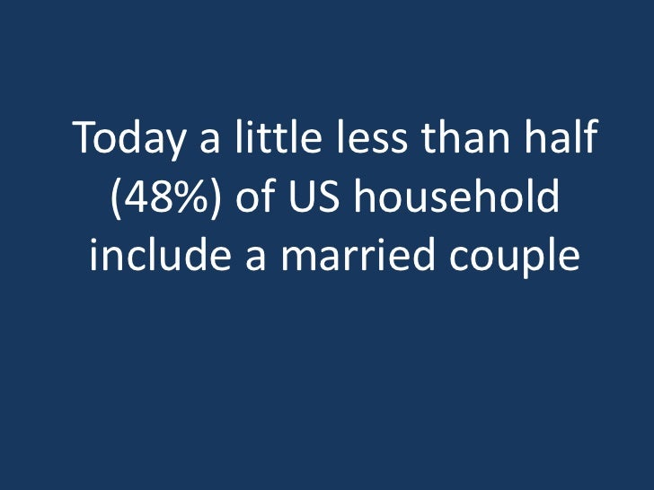 vs. 1950 when 78% ofhouseholds included a    married couple