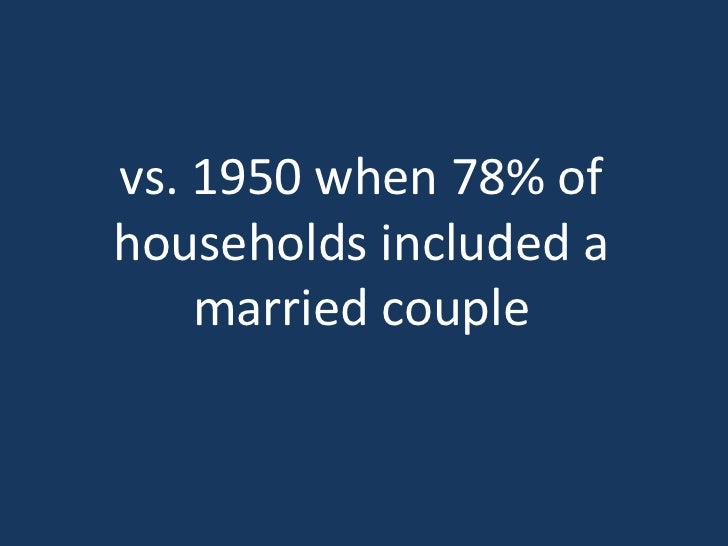 Current trends indicate thatpeople in the US are marrying  later and less often with     higher divorce rates